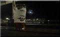 SJ9598 : Stalybridge Station and Moon. by Howard Selina