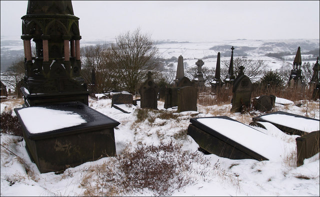 Cemetery above Tame Valley.