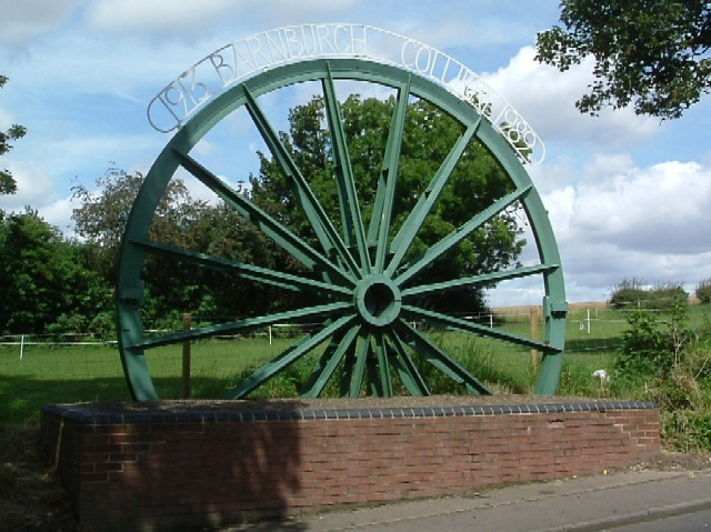 Barnburgh Colliery pithead wheel