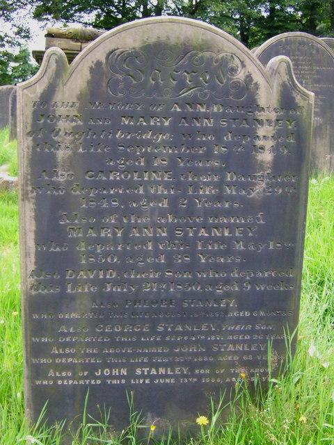 Gravestone in High Bradfield Churchyard