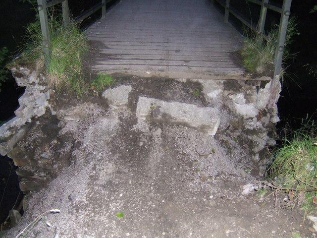 Flood damage to Haggwater Bridge