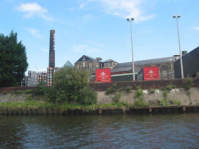 Brains Brewery from the Taff