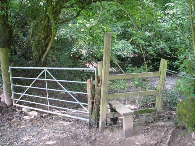 Stile into Caswell Wood