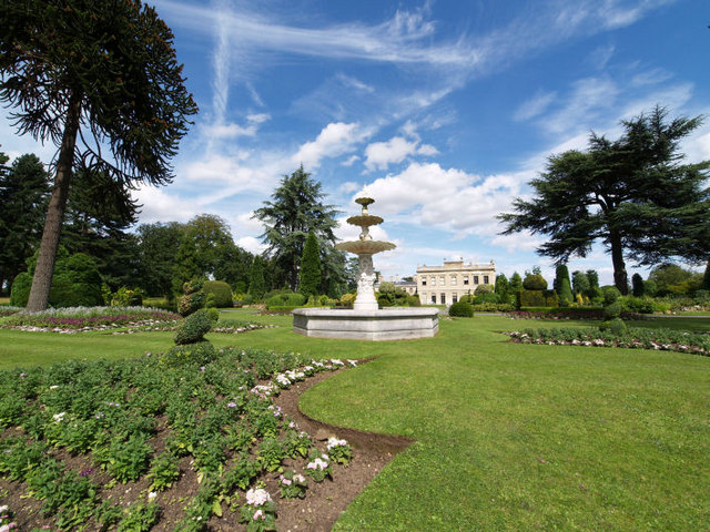 Restored fountain at Brodsworth Hall.