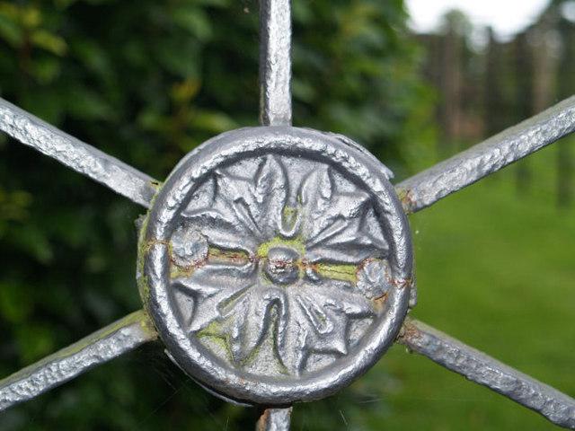 Cast iron gate detail.
