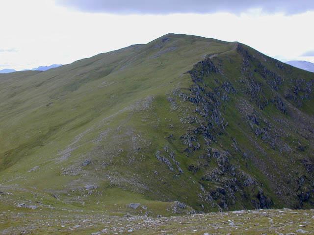 The east ridge of A' Chailleach