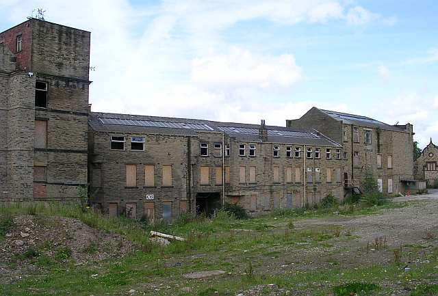 Rear view of Firth's Carpet Mill - Bradford Road