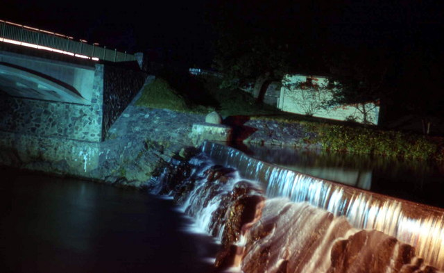 Rheidol Dam Weir at night