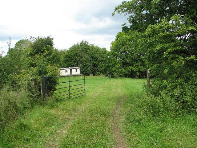 Gate on path at Madgett's Farm