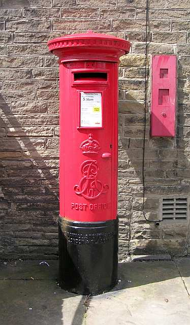 Postbox outside Post Office in New Street