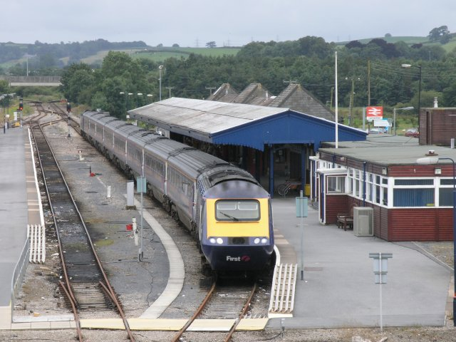 Intercity train in Carmarthen