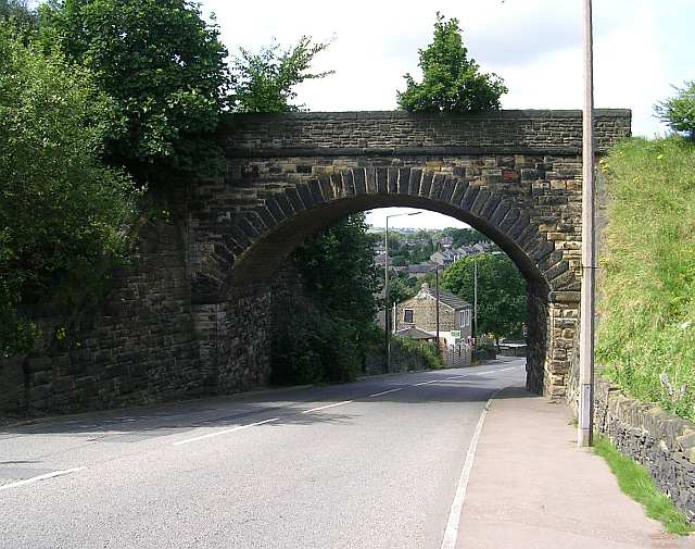 Bridge over Birkby Lane - Bailiff Bridge