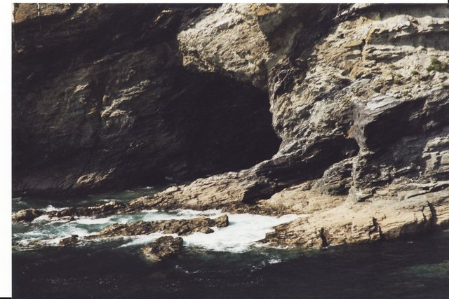 Close up of a cave at Tintagel Cove