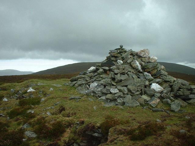 Cairn at top of Greeba Mountain