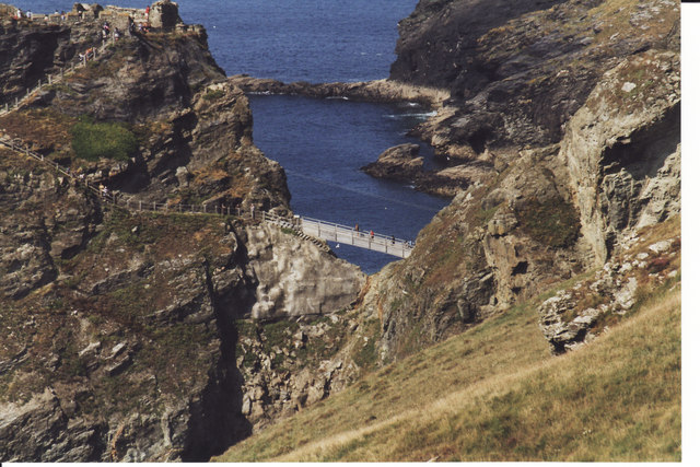 The Bridge joining Tintagel Head with the mainland