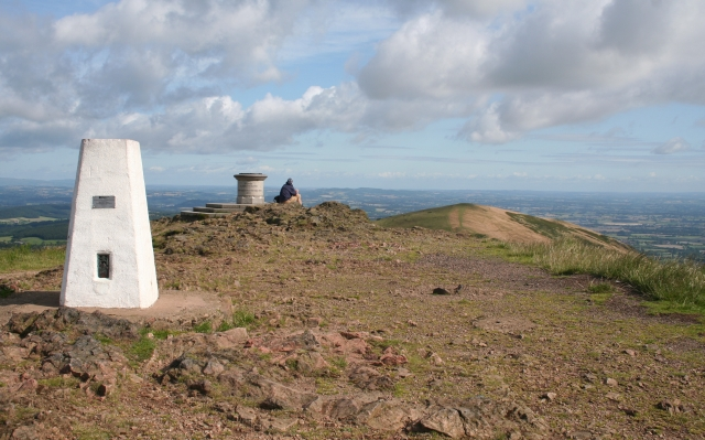 Trig Point and Toposcope on Worcestershire Beacon