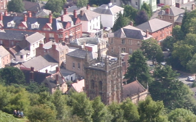 Malvern Town Centre from Worcestershire Beacon