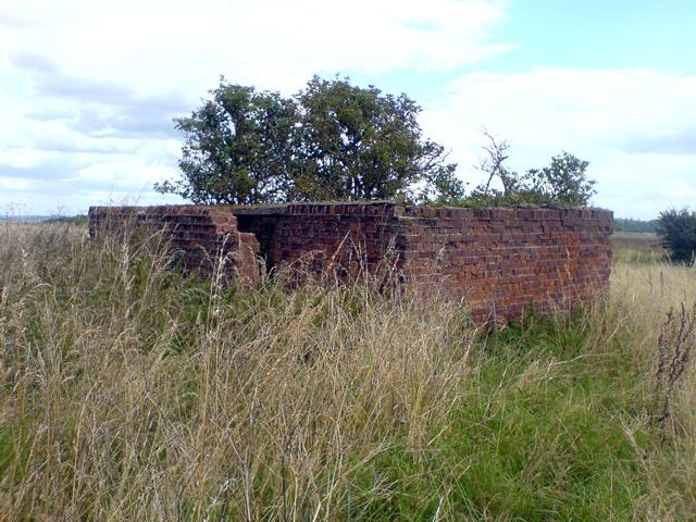 Derelict brick built building on airfield