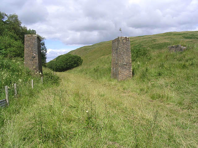 Bridge remains on the dismantled Waverley Railway Line