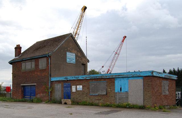 Old Buildings at Railway Wharf, Keadby