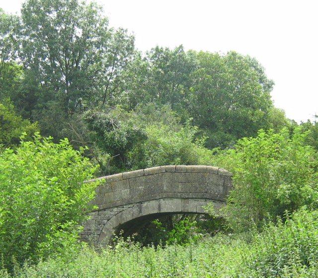 Derelict canal bridge
