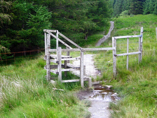 Stile on the West Highland Way
