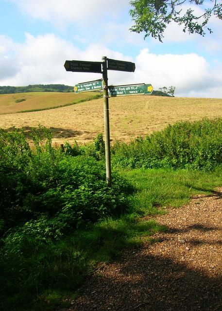 Footpath Junction near Upper Hyde