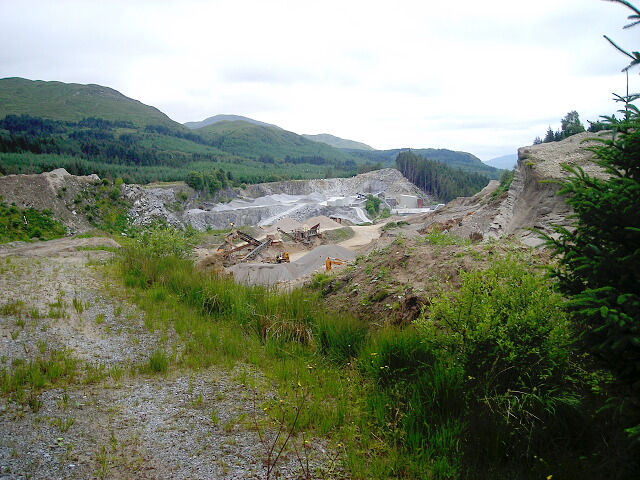 Quarry in Leanachan Forest