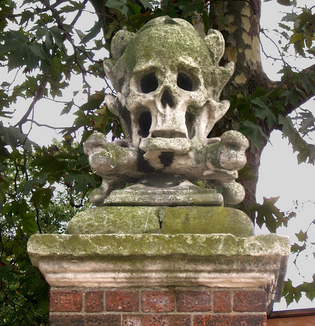 The Skull and Crossbones of St. Nicholas Church, Deptford