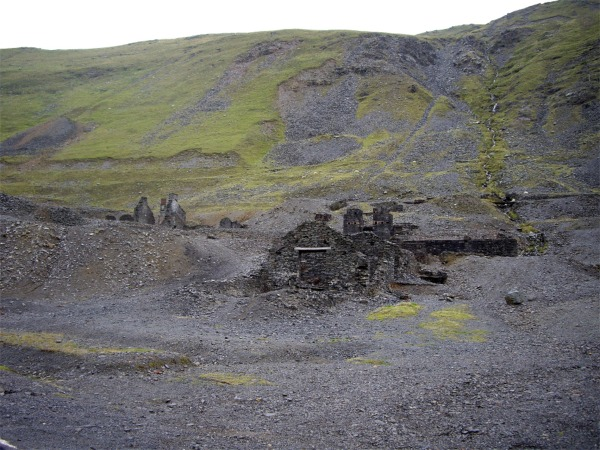 Abandoned mine buildings, Cwmystwyth