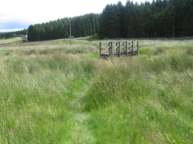 Southern Upland Way at bridge over Garpol Water