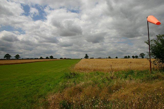 Landing strip near Brockley Green