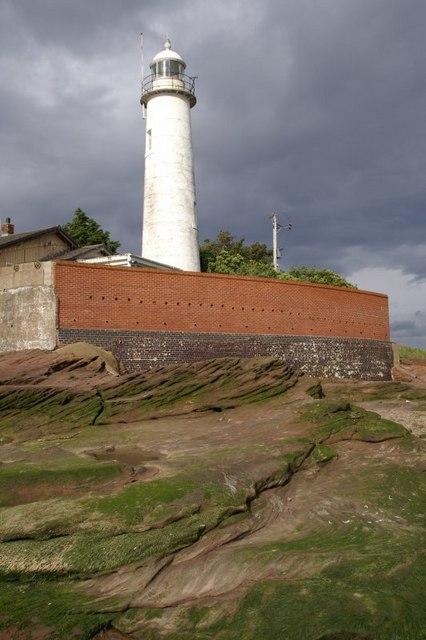 Hale Head lighthouse from the beach