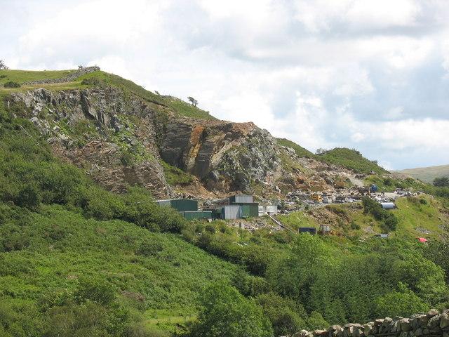 Trawsfynydd stone quarry