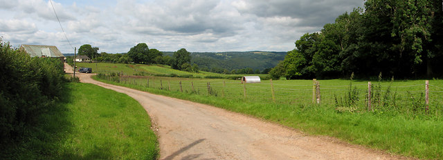 Panorama over Brockweir and the Wye Valley