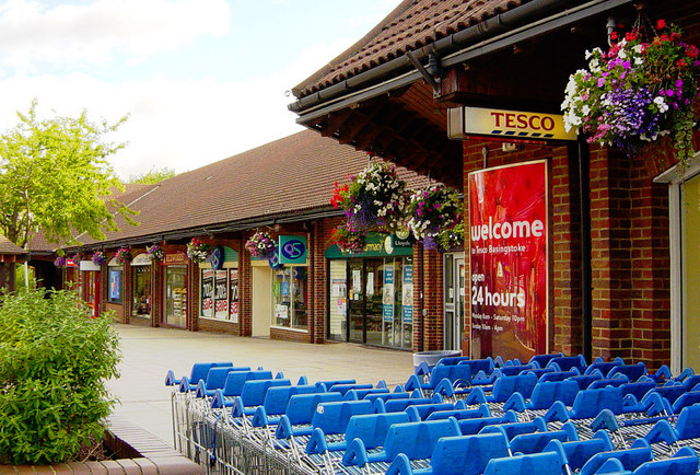 Chineham District Centre and Tesco supermarket