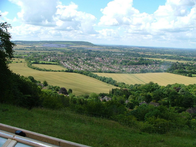 View over Princes Risborough from Whiteleaf Cross