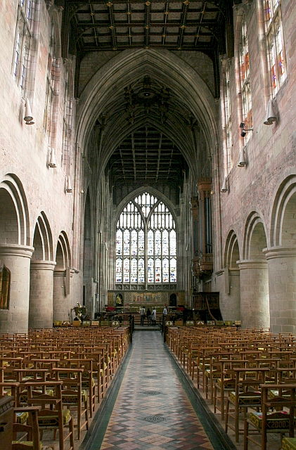 Nave of Great Malvern Priory Church