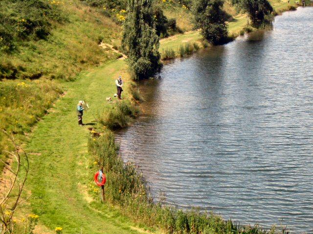 Anglers at Westlow Mere