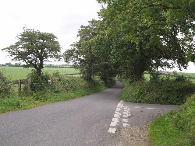 Lane junction above Purtington