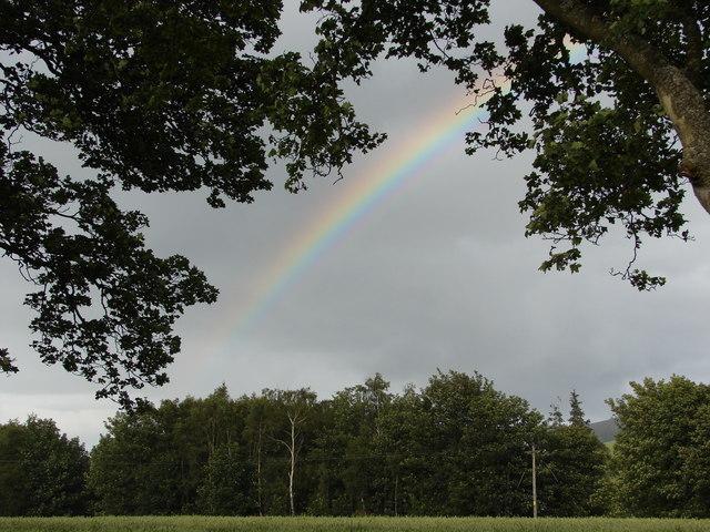 Rainbow over Clyde near Lamington