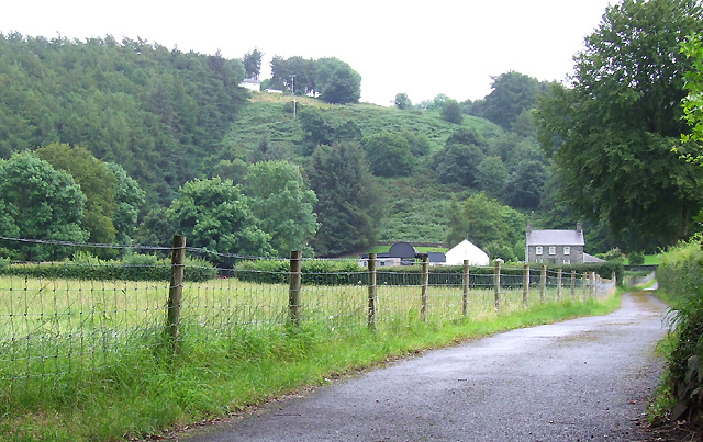 Farmland, Driveway, and Hillside near Llanddewi-Brefi, Ceredigion