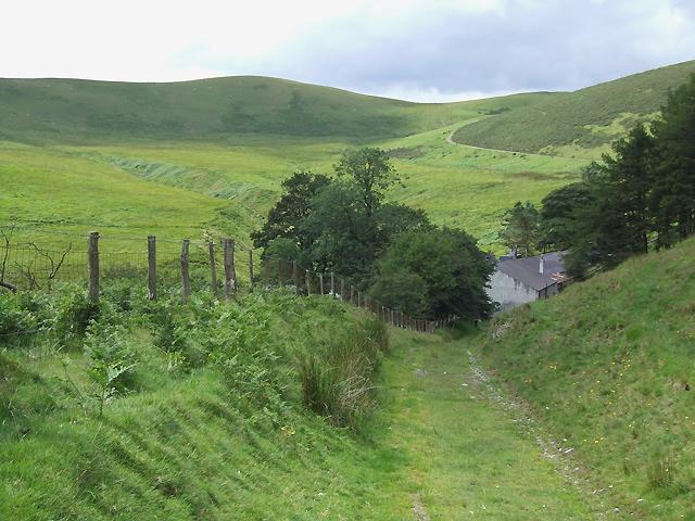 Bridleway approaching Nant-Llwyd, near Soar-y-Mynydd, Ceredigion