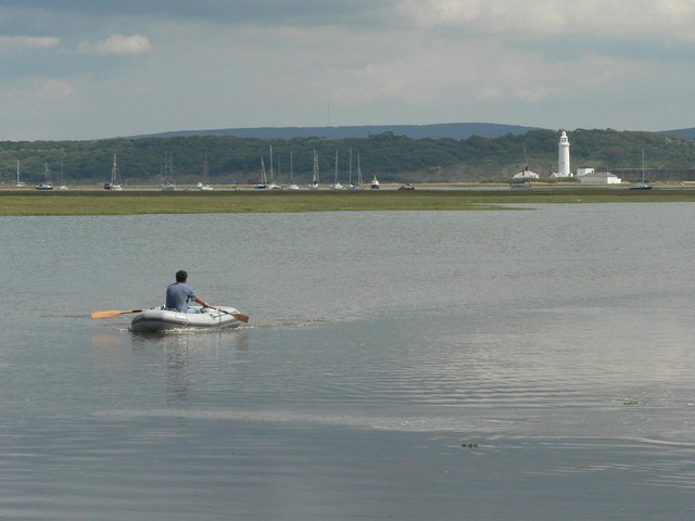 Rowing in Lymington Harbour
