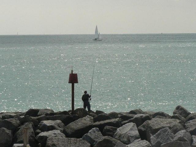 Angling at Keyhaven