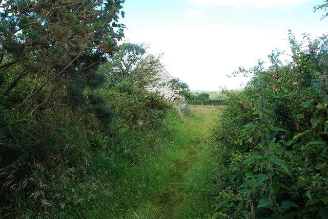 Llwybr i Gapel Newydd Nanhoron Path to Capel Newydd