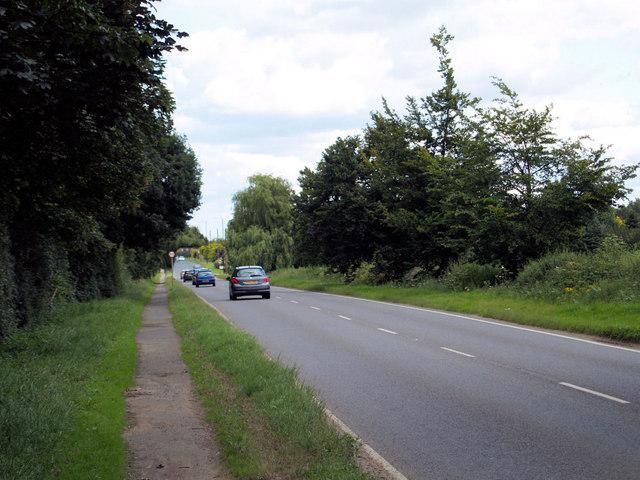 B1396 near Blaxton.