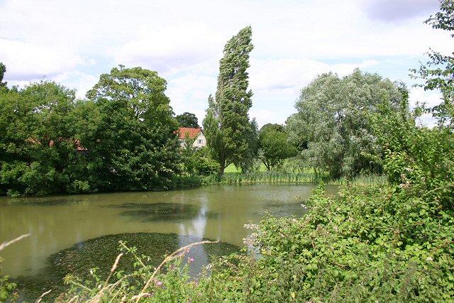 Sturmer Hall and pond