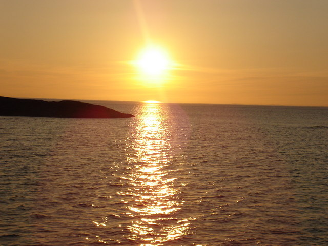 Sunset from Sanna Bay