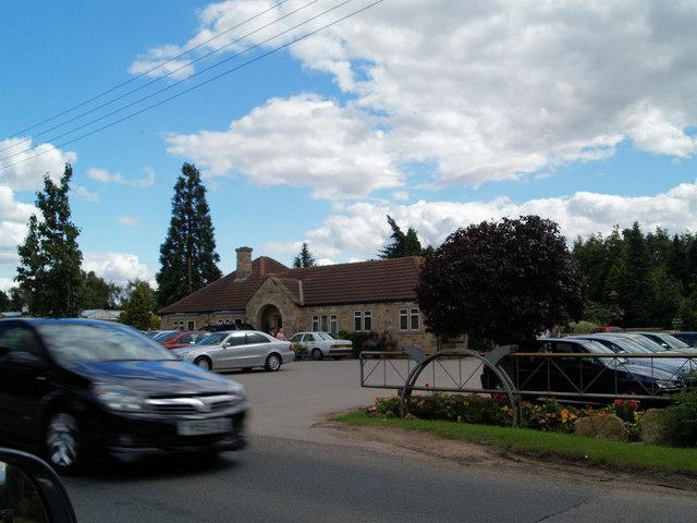 Traffic jam into Walker's garden centre.